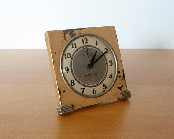 """Vintage Westlox Clock - """"Tide"""""""