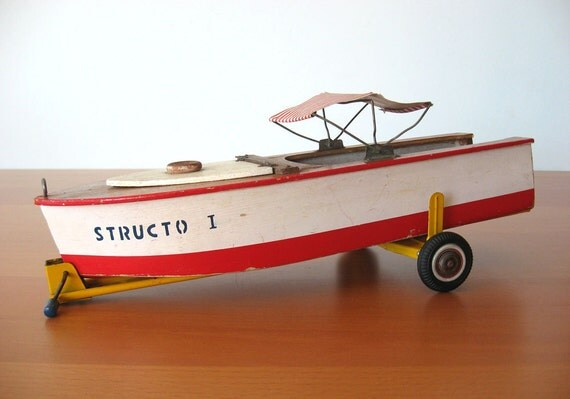 Vintage Structo Boat - Nautical