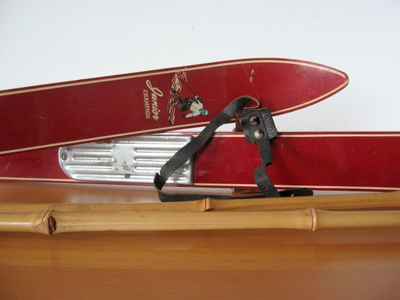 Vintage Junior Skis & Bamboo Poles