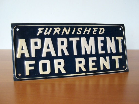 Vintage Apartment for Rent Metal Sign
