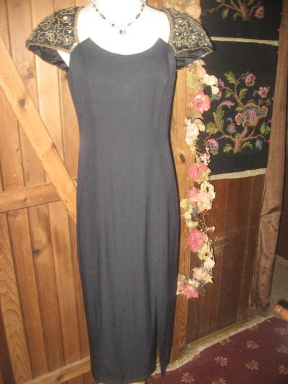 Vintage (Night Way) Evening Gown/Sequins/Beads/SZ10