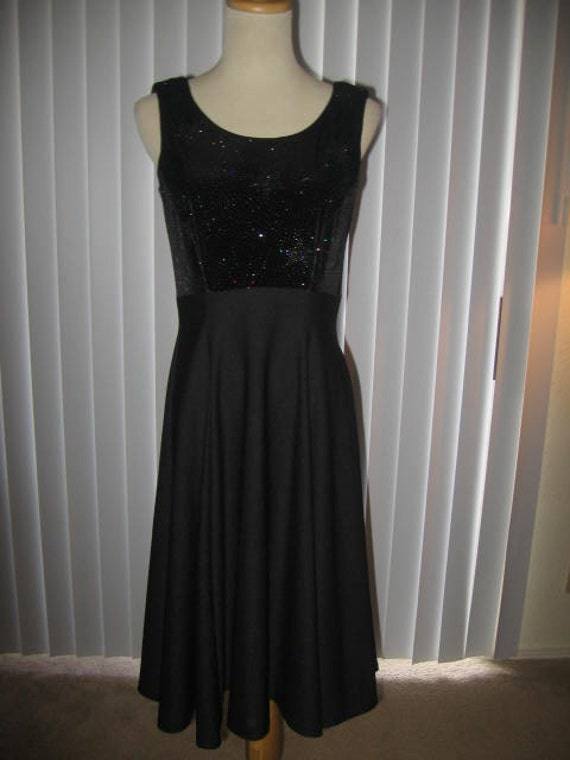 Vintage Southwestern  Black Sparkle Evening Dress//Sz 4