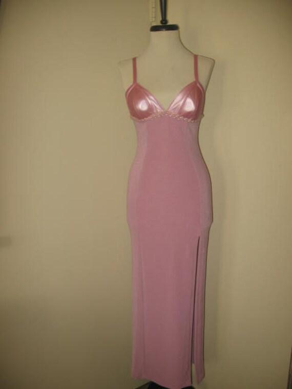 Vintage Peep Lavender Evening Gown/Sz Small