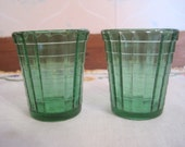Two Children's Akro Agate Tumblers