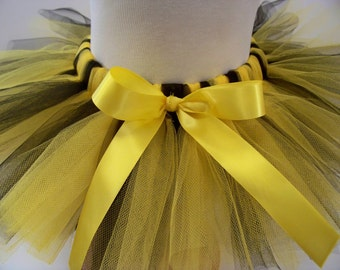Bumble Bee Tutu, Baby Tutu, Black and Yellow Tutu, Toddler Tutu, Halloween Costume, Birthday Tutu, Custom Sewn Tutu, Baby Shower Gift
