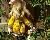 "Cloth Art Doll OOAK, Mary Lennox of ""The Secret Garden"""