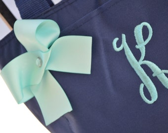 Insulated Lunch tote with Embroidered Initial