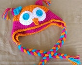 Owl Hat/Crocheted Owl Hat/Newborn to 4T/Cbbcreations/Photo Prop