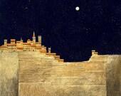 San Giminagano Italy--16x16--archival giclee print