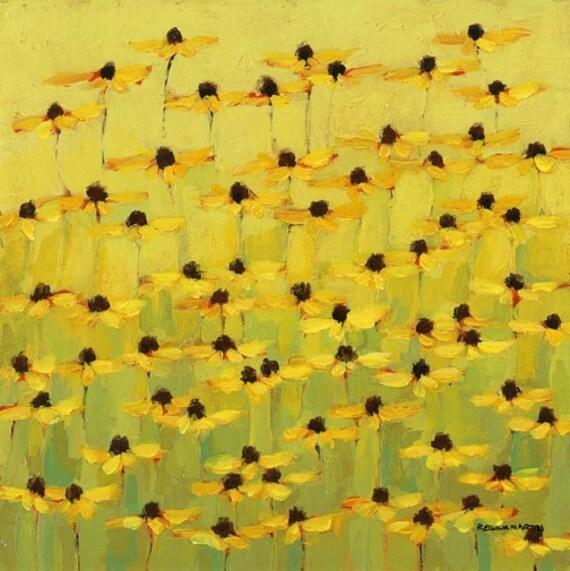 Yellow flower, daisy print, giclee, fine art