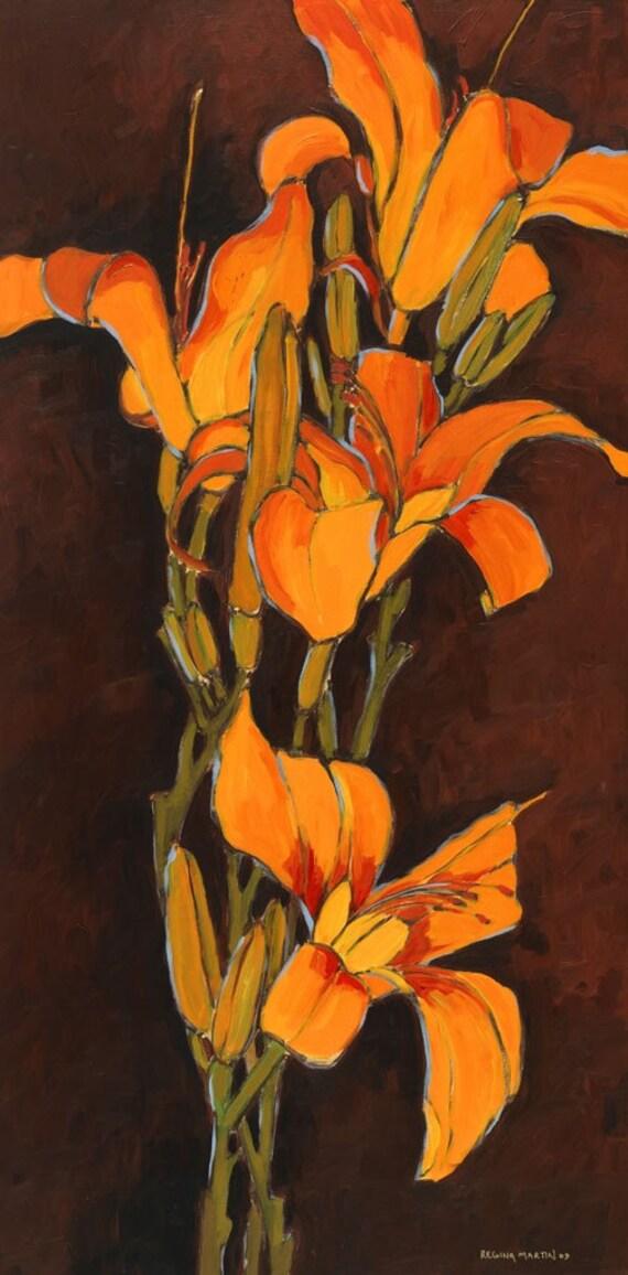 Tiger Lily 2--fine art print--32x14