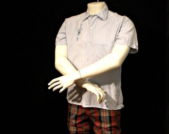 Vintage Short Sleeve Shirt With Embroidered Emblem