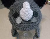 Little Rhino Hat , rhino, crochet rhino, costume alternative, photo prop