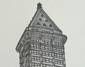 Smith Tower II - Limited Edition Seattle Letterpress Print