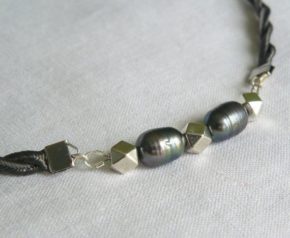 mens pearl jewelry s or s gray pearl necklace 5536
