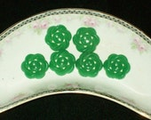 Vintage green,  1940,  Plastic Buttons,  Set of 6