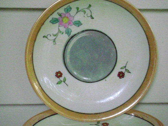 Japaneese,  Luster ware Plates or Tea saucers,  set of 6, excellent condition, tableware, serveware, collectables