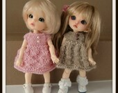 Instant Download PDF Knitted Dress Pattern for Lati Yellow and Pukifee
