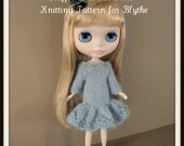 Instant Download PDF Knitting Pattern for Ruffle Dress or Skirt for Blythe