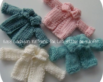 Instant Download PDF Knitted Cardigan Patterns for Lati Yellow and Pukifee