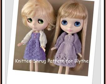 Instant Download PDF Knitting Pattern for Shrug for Blythe