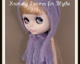 Instant Download PDF Knitting Pattern for Cardigan and Sweater for Blythe