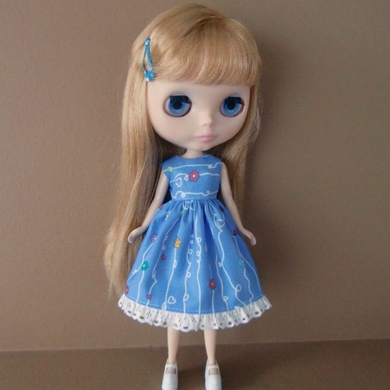 CLEARANCE SALE - Blue Summer Dress for Blythe