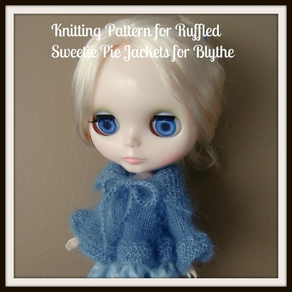 Instant Download PDF Knitting Pattern for Ruffled Sweetie Pie Jackets for Blythe