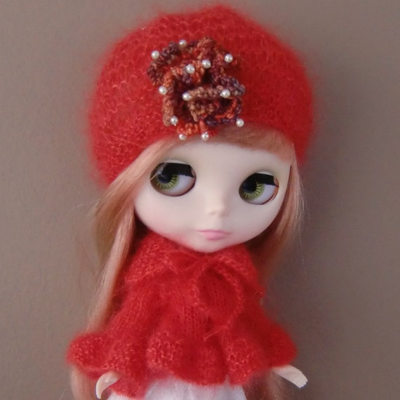 Red Kidsilk Sweetie Pie Jacket and Hat for Blythe