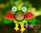 Lens Bling - Green Owl with Squeaker