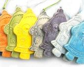 Ceramic Robot Ornaments (Choose Your Color)