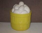 Eggs in a Basket Cookie Jar