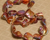 24 Pcs Mother of Pearl Shell Nugget Beads
