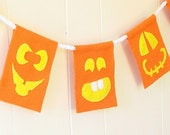 Silly Pumpkins felt party banner or Halloween decoration