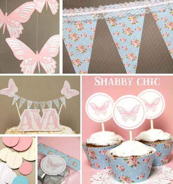 shabby chic birthday party on Etsy, a global handmade and vintage