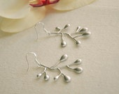 SALE - Was USD 24- Sterling Silver Modern Branch Earrings, Contemporary, Unique Design, Nature Inspired, Botanical