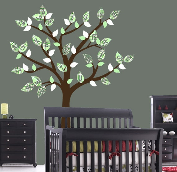 Nursery Alphabet Tree Decal - Removable Reusable Vinyl Decal Sticker
