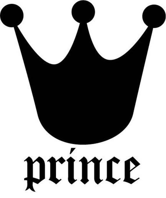Prince Crown Wall Decal By Stickystyles On Etsy