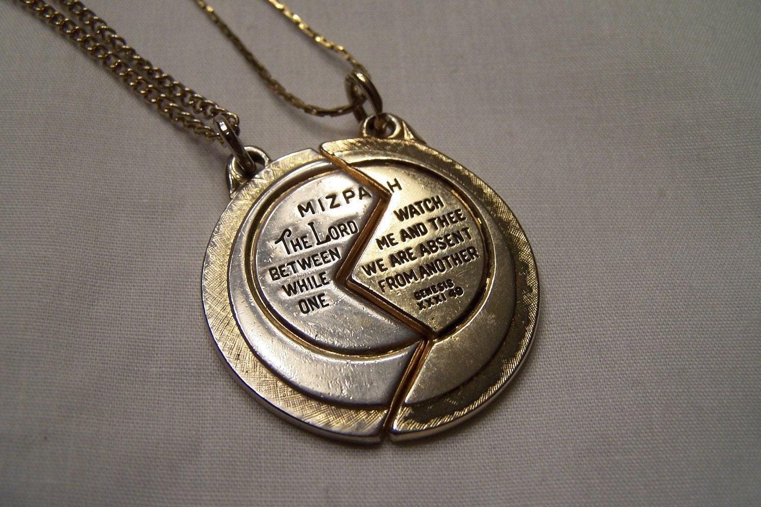 Mizpah coin necklace mizpah coin necklace can all downloads on the 2 piece mizpah coin pendant in 14k gold the miracle of course was not that the oil for the sacred light in a little cruse lasted as long as they say aloadofball Choice Image