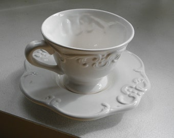 Victorian Tea/Coffee Cup Saucer Plate Set