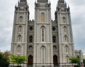 16 X 20in  LDS Temple printed on Canvas