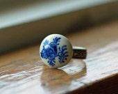 Blue Floral Ring