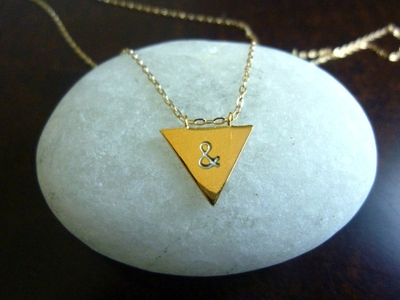 Triangle Necklace-Triangle Initial Necklace-Silver Triangle Necklace-Spike Necklace-Triangle Charm Necklace-Silver Arrow Necklace-Momentusny