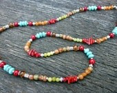 Colorful Semiprecious Stone Necklace