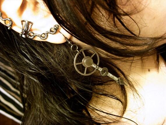 Gunmetal Spike Earrings