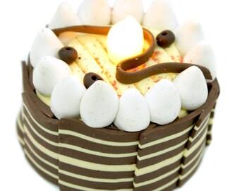 LED, Mini Cake Tea Light, Trendy decoration for Party,1 pcs