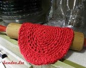 Country Kitchen Cotton Crochet Dishcloth Red