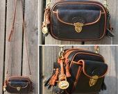 RESERVED FOR HOLLY - Vintage Black Dooney & Bourke Kilty Leather Satchel Purse Rare