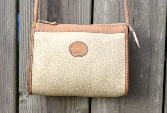 Ivory Ecru Vintage Dooney & Bourke Leather Purse RARE