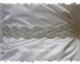 Bridal Belt, 36 inch Beaded Wedding Belt, Rhinestone Crystal Wedding Sash, Wide Jeweled Bridal Sash, Wedding Belts and Sashes, No. 1126S2-36